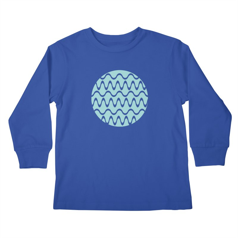 Planet Wave Kids Longsleeve T-Shirt by elizabethreay's Artist Shop