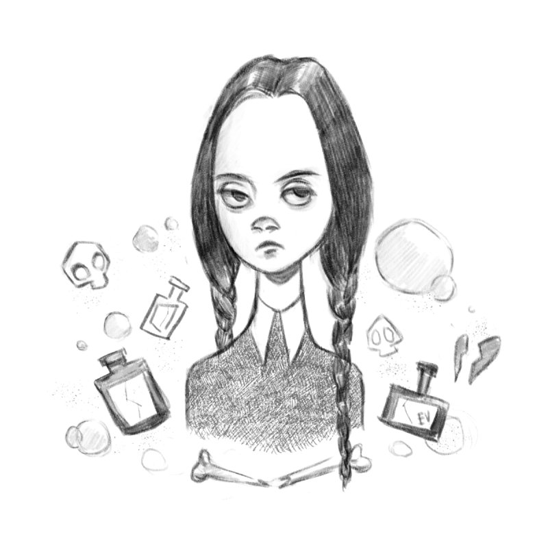 Wednesday Addams by Elizabet Vukovic's Artist Shop