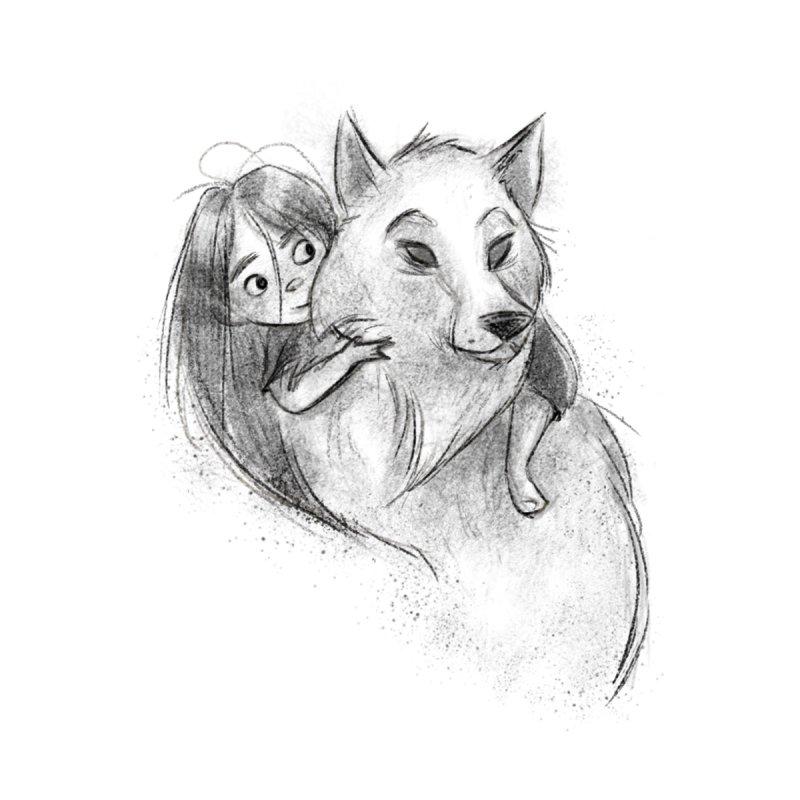 Wolfs Girl None  by Elizabet Vukovic's Artist Shop