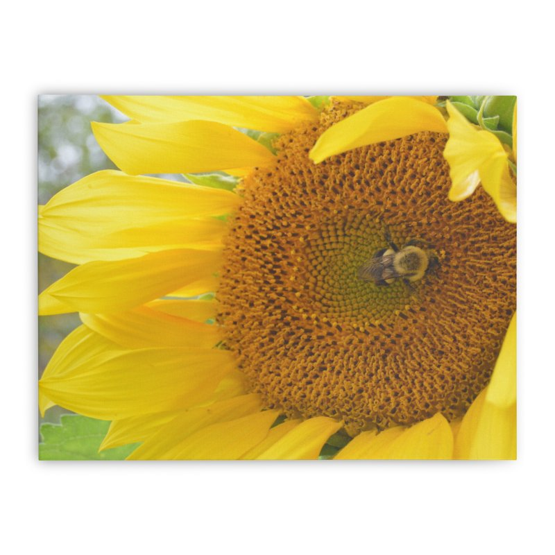 Tumblebee (natural) Home Stretched Canvas by Ella Arrow, Curator of Wonder