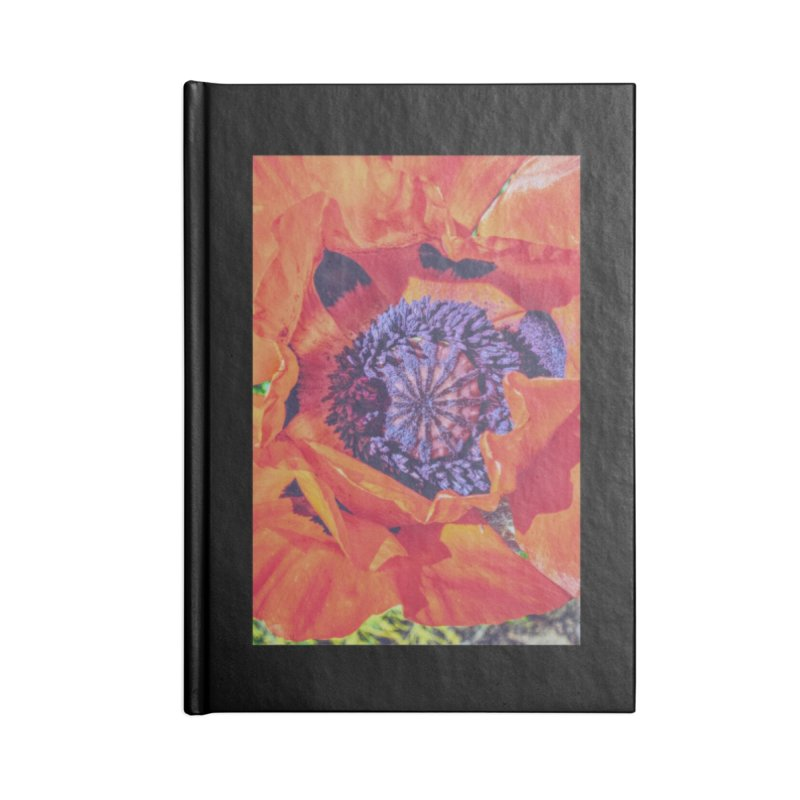 Poppy Burning Bright Accessories Lined Journal Notebook by Ella Arrow, Curator of Wonder