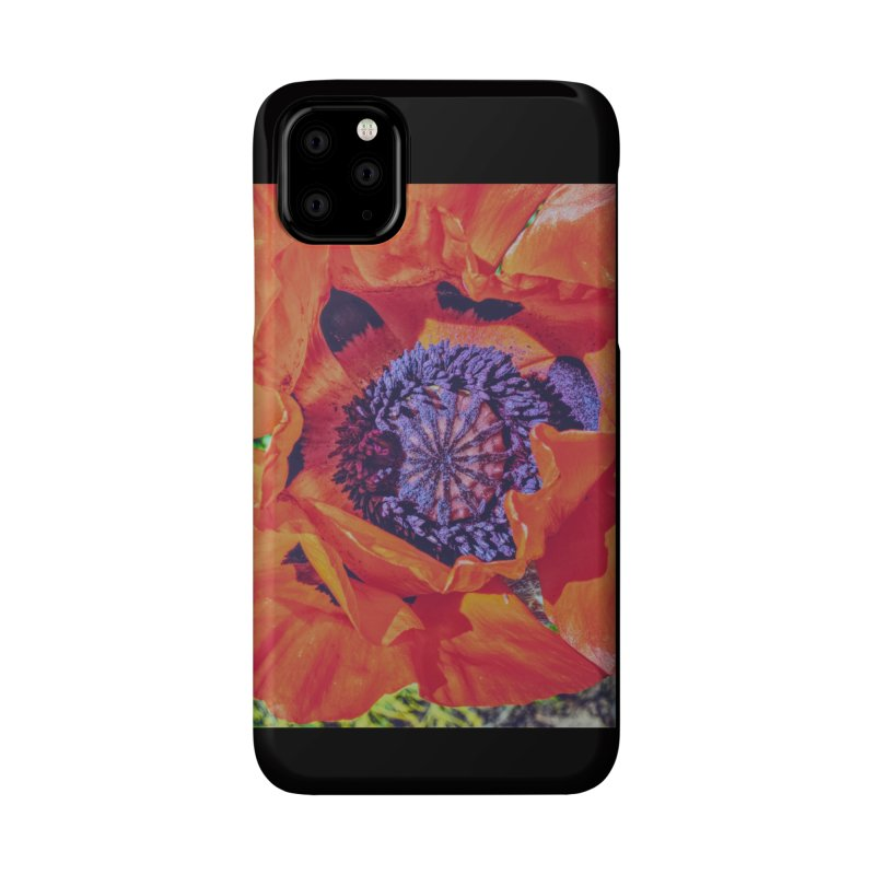 Poppy Burning Bright Accessories Phone Case by Ella Arrow, Curator of Wonder