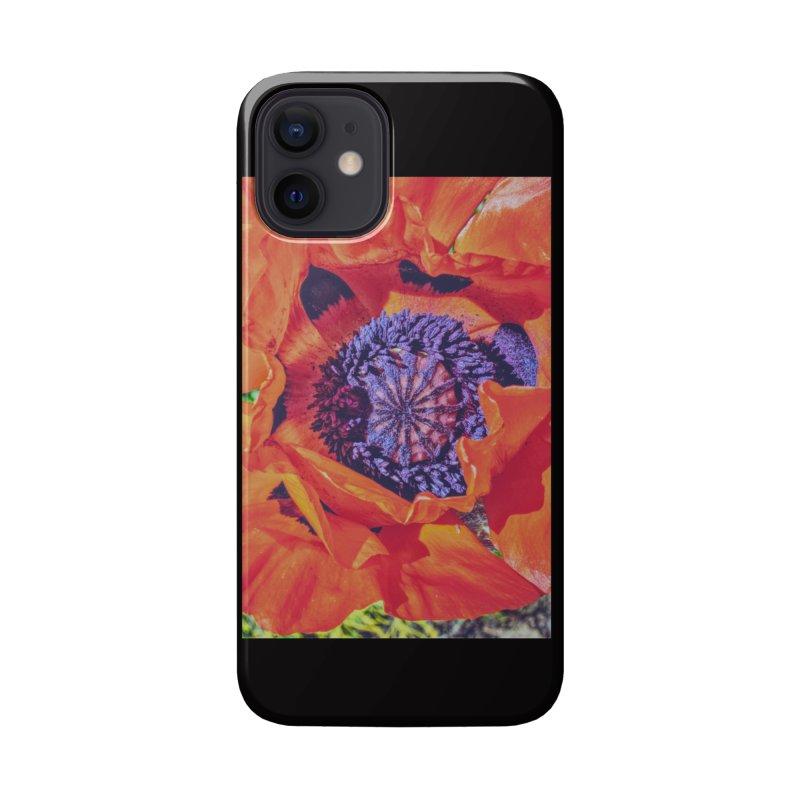 Poppy Burning Bright Accessories Phone Case by Ella Arrow, Curator of Wonder
