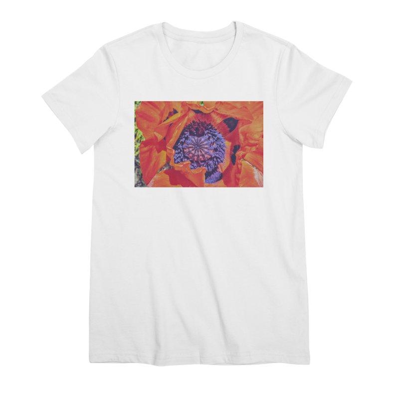Poppy Burning Bright Women's Premium T-Shirt by Ella Arrow, Curator of Wonder