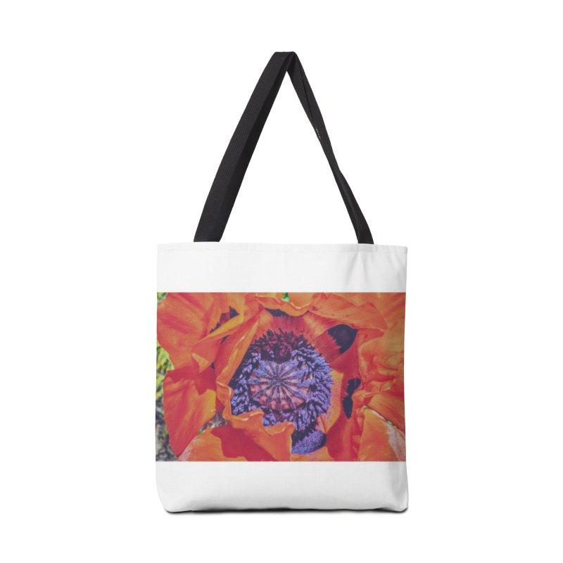 Poppy Burning Bright Accessories Tote Bag Bag by Ella Arrow, Curator of Wonder