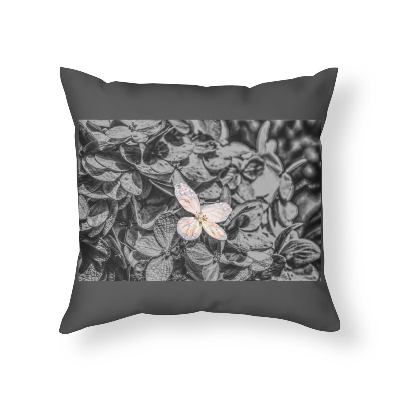 Butterfly Bush Home Throw Pillow by Ella Arrow, Curator of Wonder