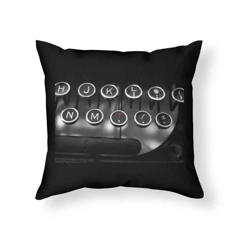 A Question Home Throw Pillow by Ella Arrow, Curator of Wonder