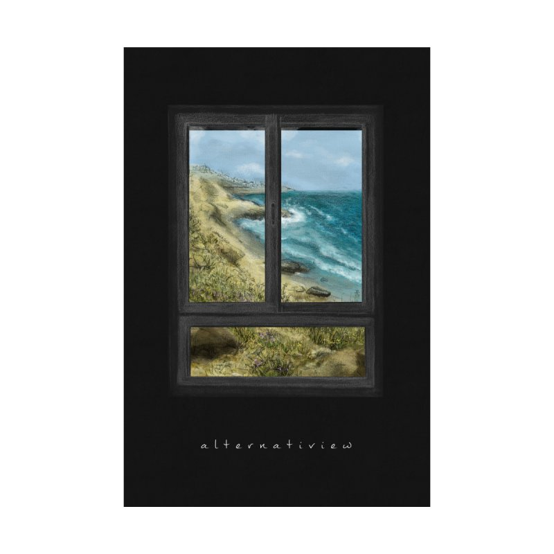 WIN VIEW - SEA (black) by ellagershon's Artist Shop