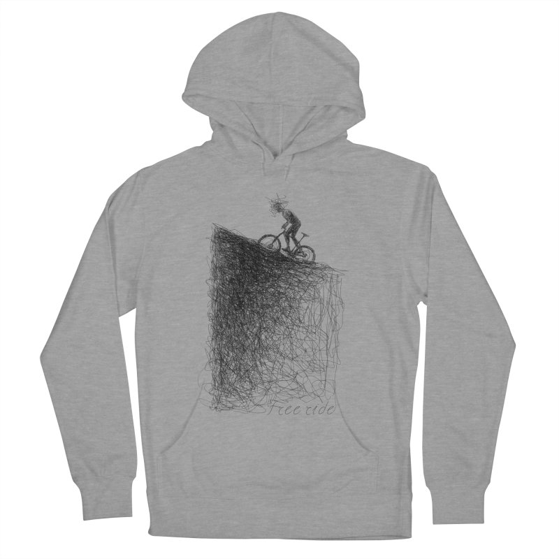 free ride Women's French Terry Pullover Hoody by ellagershon's Artist Shop