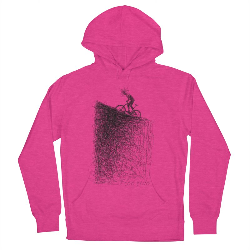 free ride Men's French Terry Pullover Hoody by ellagershon's Artist Shop