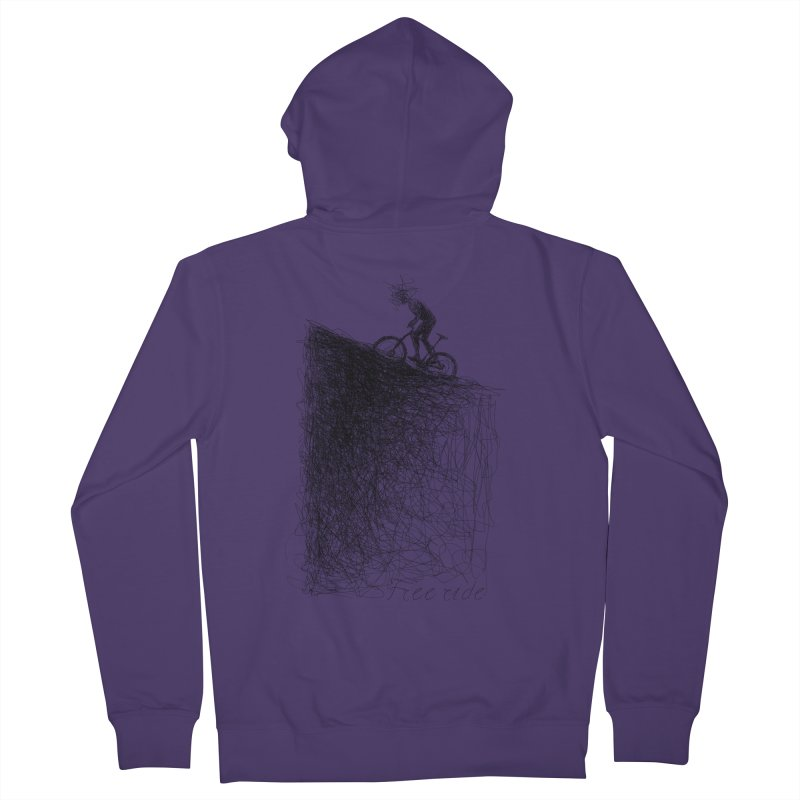 free ride Women's French Terry Zip-Up Hoody by ellagershon's Artist Shop