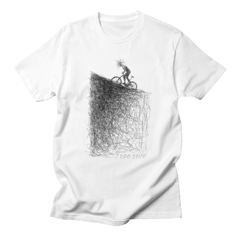 free ride in Men's Regular T-Shirt White by ellagershon's Artist Shop