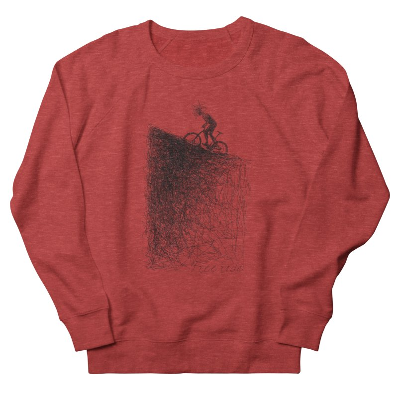 free ride Women's French Terry Sweatshirt by ellagershon's Artist Shop