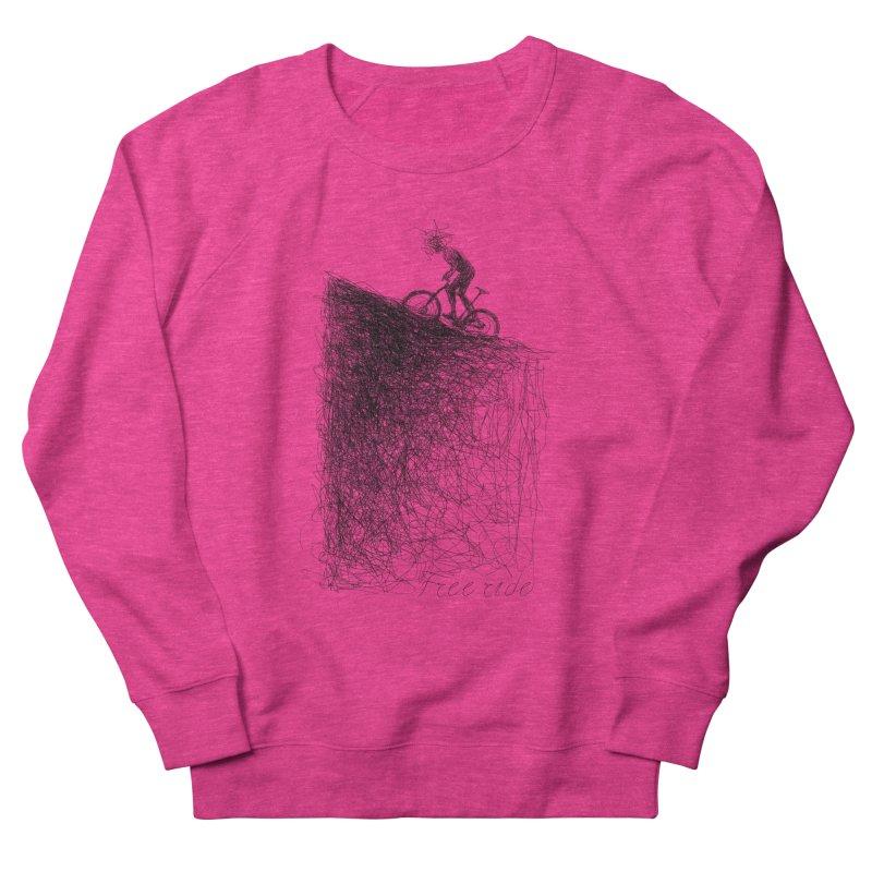 free ride Women's French Terry Sweatshirt by ellagershon's Artist Shop