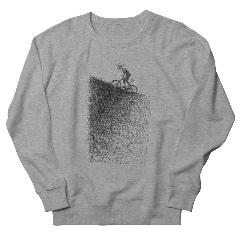 free ride Men's French Terry Sweatshirt by ellagershon's Artist Shop