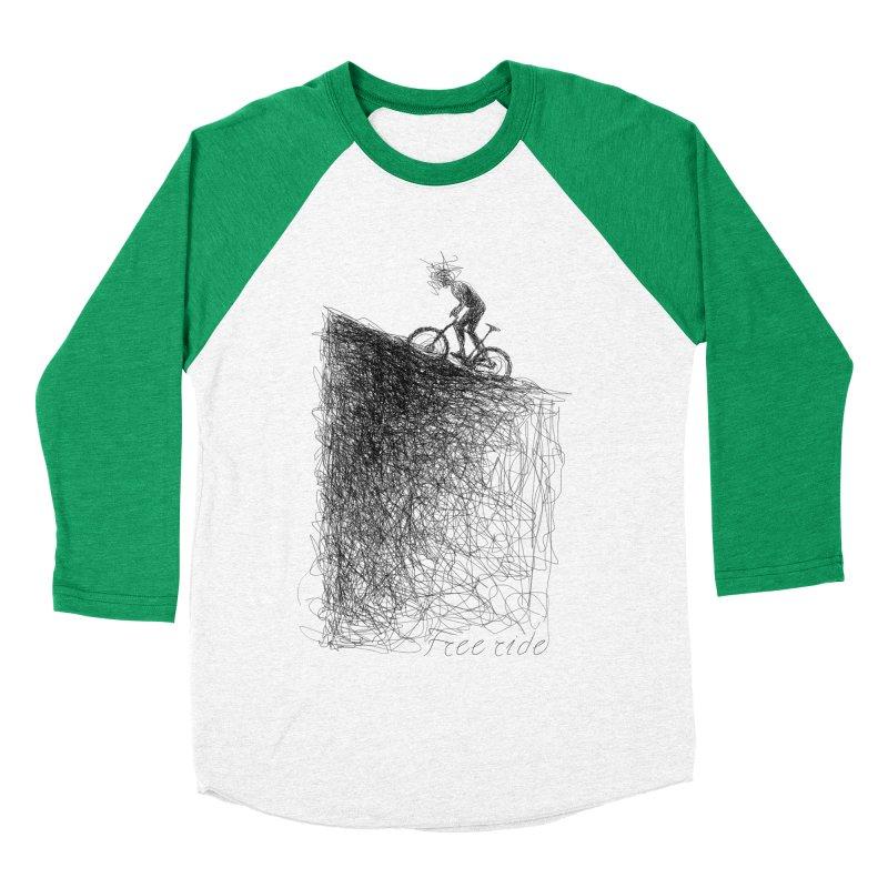 free ride Women's Baseball Triblend T-Shirt by ellagershon's Artist Shop