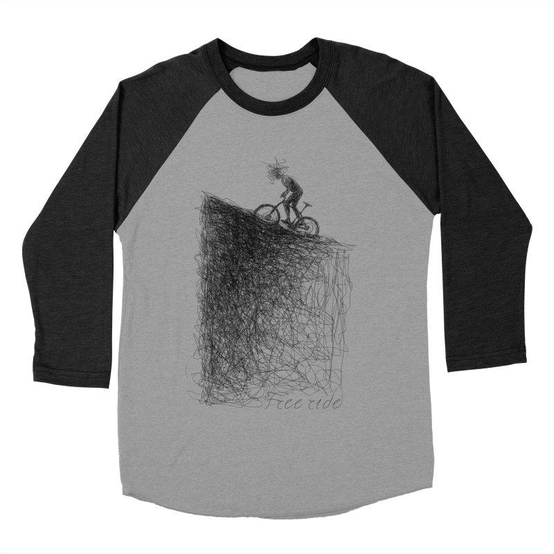 free ride Men's Baseball Triblend T-Shirt by ellagershon's Artist Shop