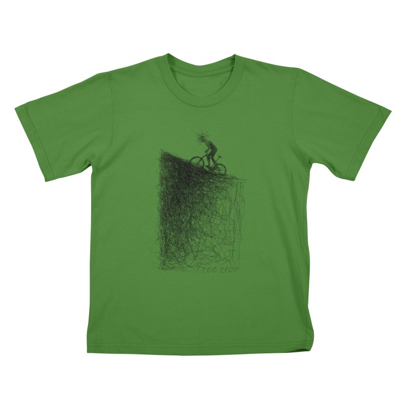 free ride Kids T-Shirt by ellagershon's Artist Shop