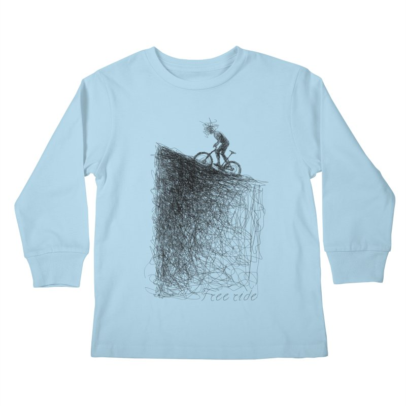 free ride Kids Longsleeve T-Shirt by ellagershon's Artist Shop