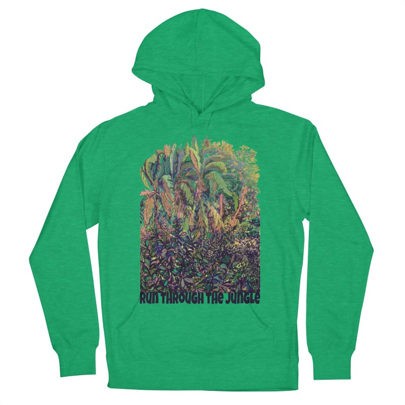 run thru the jungle Women's French Terry Pullover Hoody by ellagershon's Artist Shop