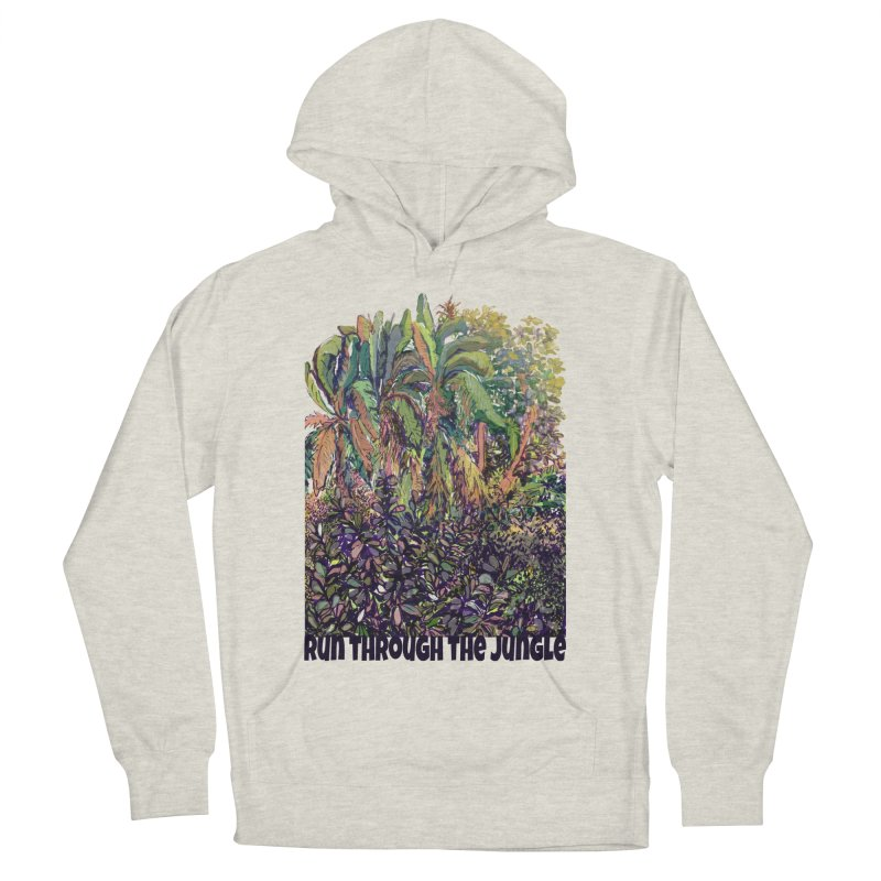 run thru the jungle Men's French Terry Pullover Hoody by ellagershon's Artist Shop