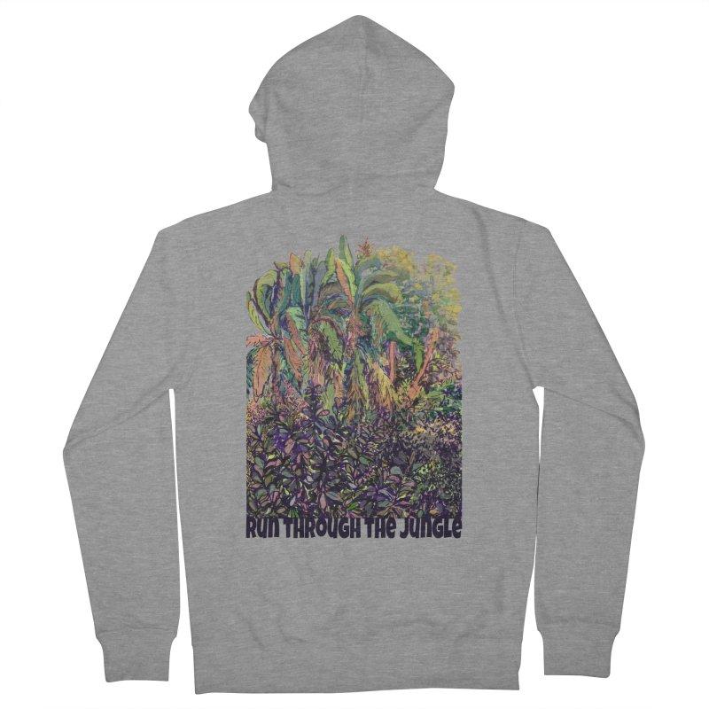 run thru the jungle Women's Zip-Up Hoody by ellagershon's Artist Shop