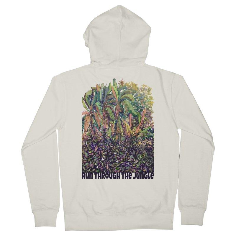 run thru the jungle Women's French Terry Zip-Up Hoody by ellagershon's Artist Shop