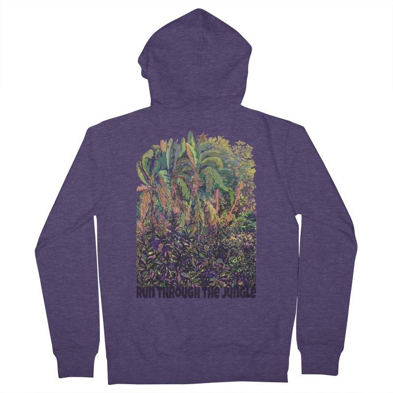 run thru the jungle Men's French Terry Zip-Up Hoody by ellagershon's Artist Shop