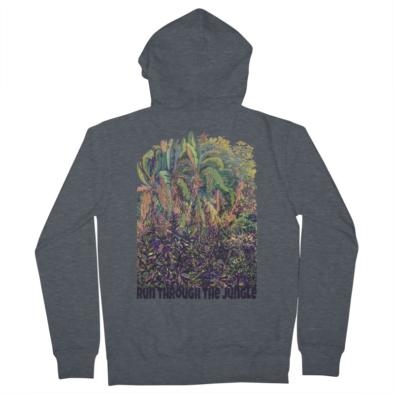run thru the jungle Men's French Terry Zip-Up Hoody by ellagershon's Artist Shop
