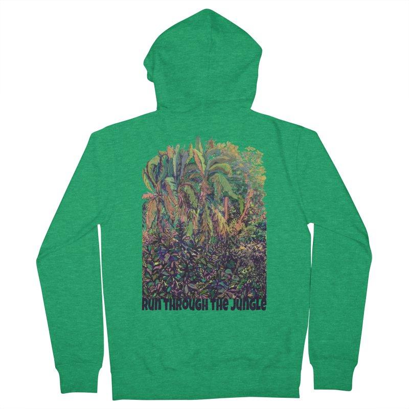 run thru the jungle Men's Zip-Up Hoody by ellagershon's Artist Shop
