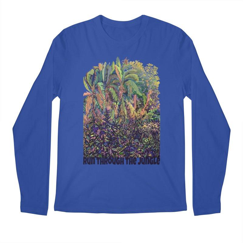 run thru the jungle Men's Regular Longsleeve T-Shirt by ellagershon's Artist Shop