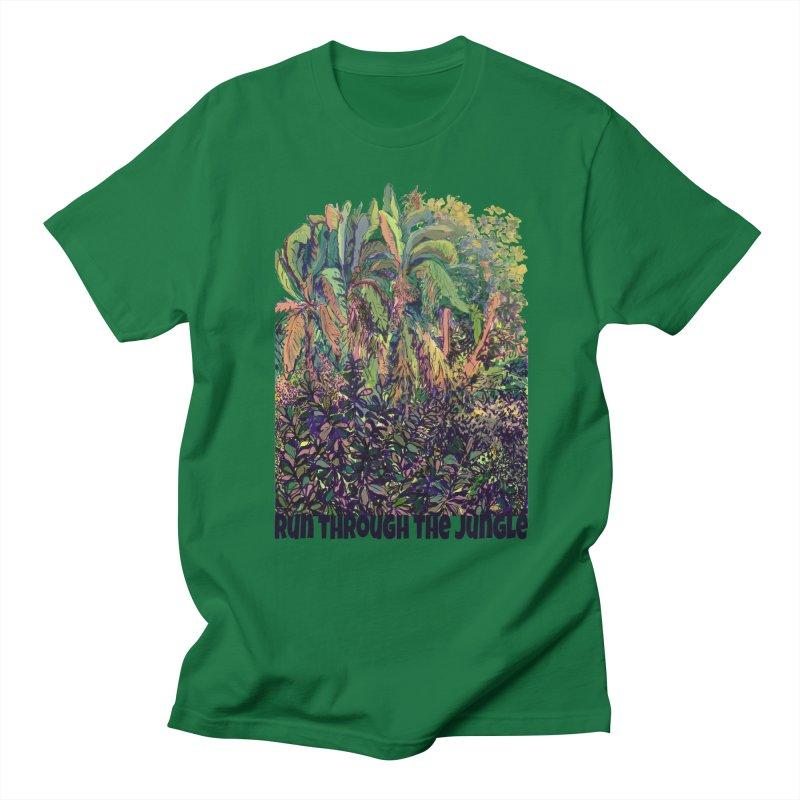 run thru the jungle Men's Regular T-Shirt by ellagershon's Artist Shop