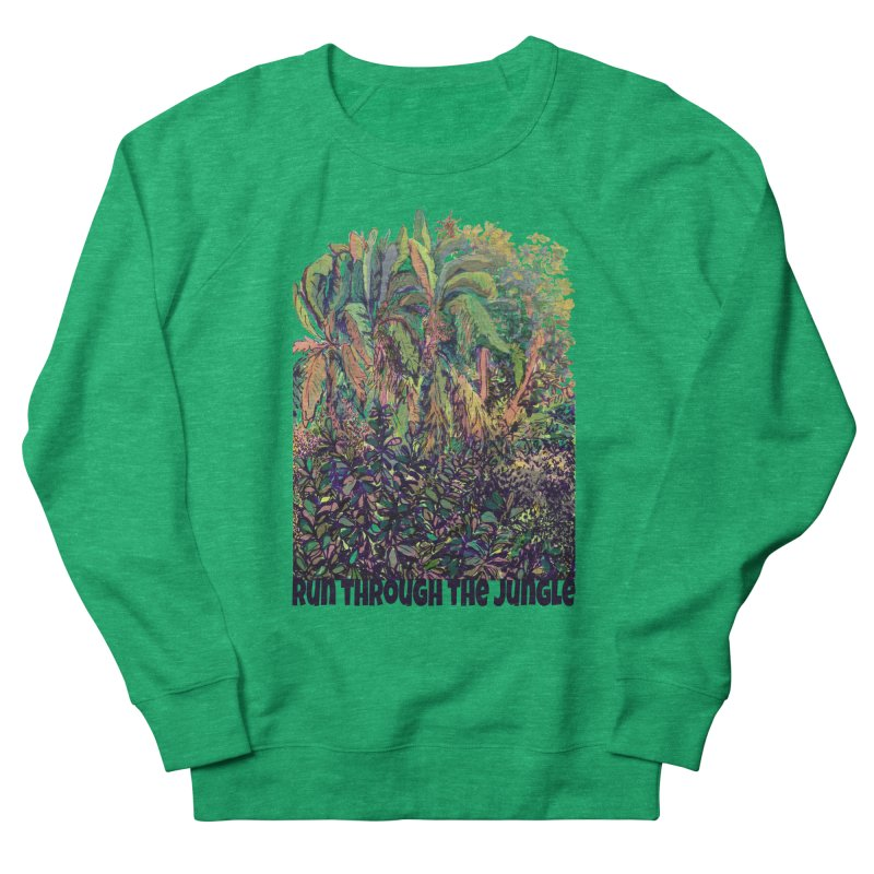 run thru the jungle Women's French Terry Sweatshirt by ellagershon's Artist Shop