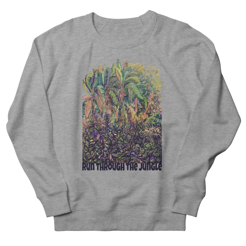 run thru the jungle Women's French Terry Sweatshirt by ellagershon's Artist Shop