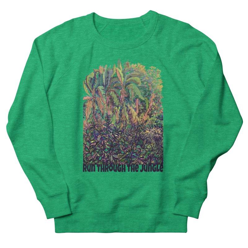 run thru the jungle Men's French Terry Sweatshirt by ellagershon's Artist Shop