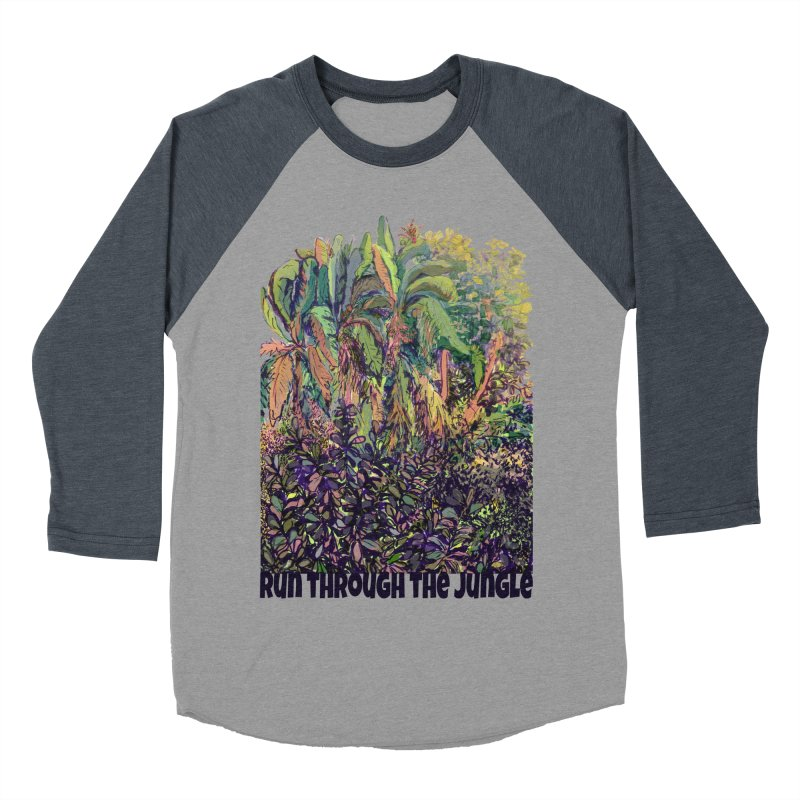 run thru the jungle Women's Baseball Triblend T-Shirt by ellagershon's Artist Shop