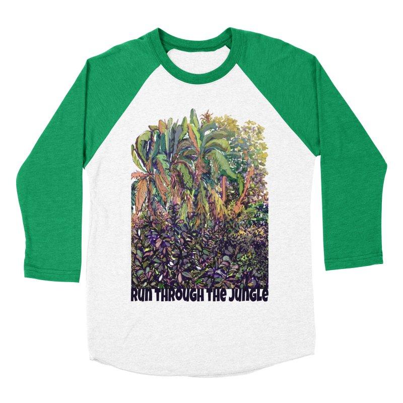 run thru the jungle Men's Baseball Triblend T-Shirt by ellagershon's Artist Shop
