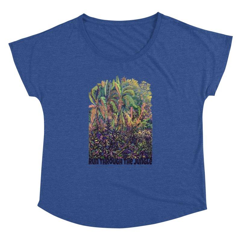run thru the jungle Women's Dolman Scoop Neck by ellagershon's Artist Shop
