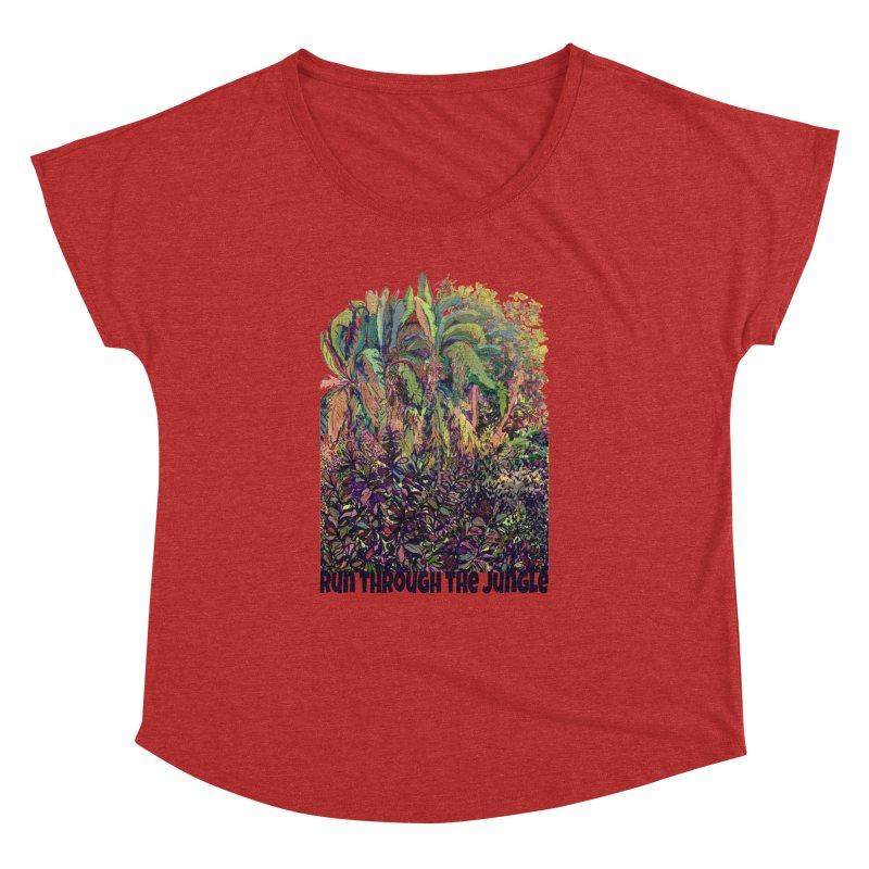 run thru the jungle Women's Dolman by ellagershon's Artist Shop