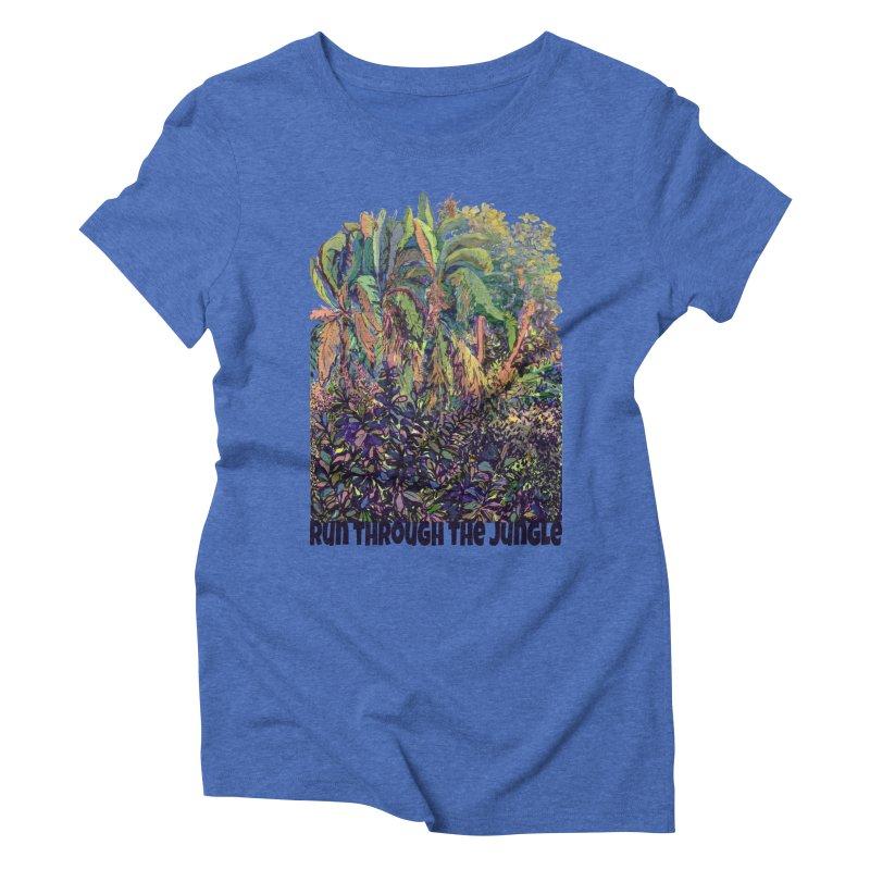 run thru the jungle Women's Triblend T-Shirt by ellagershon's Artist Shop