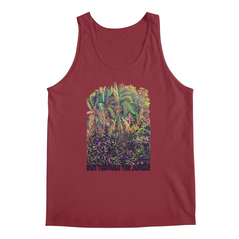 run thru the jungle Men's Regular Tank by ellagershon's Artist Shop