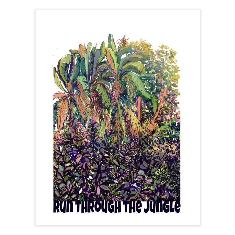 run thru the jungle in Fine Art Print by ellagershon's Artist Shop