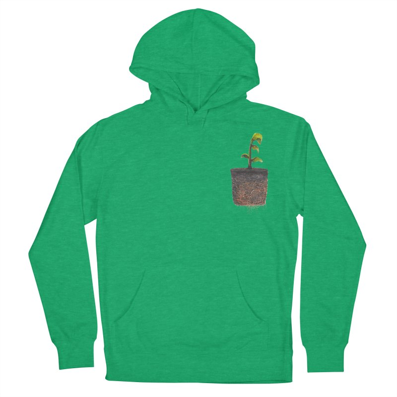 pocket plant Women's French Terry Pullover Hoody by ellagershon's Artist Shop