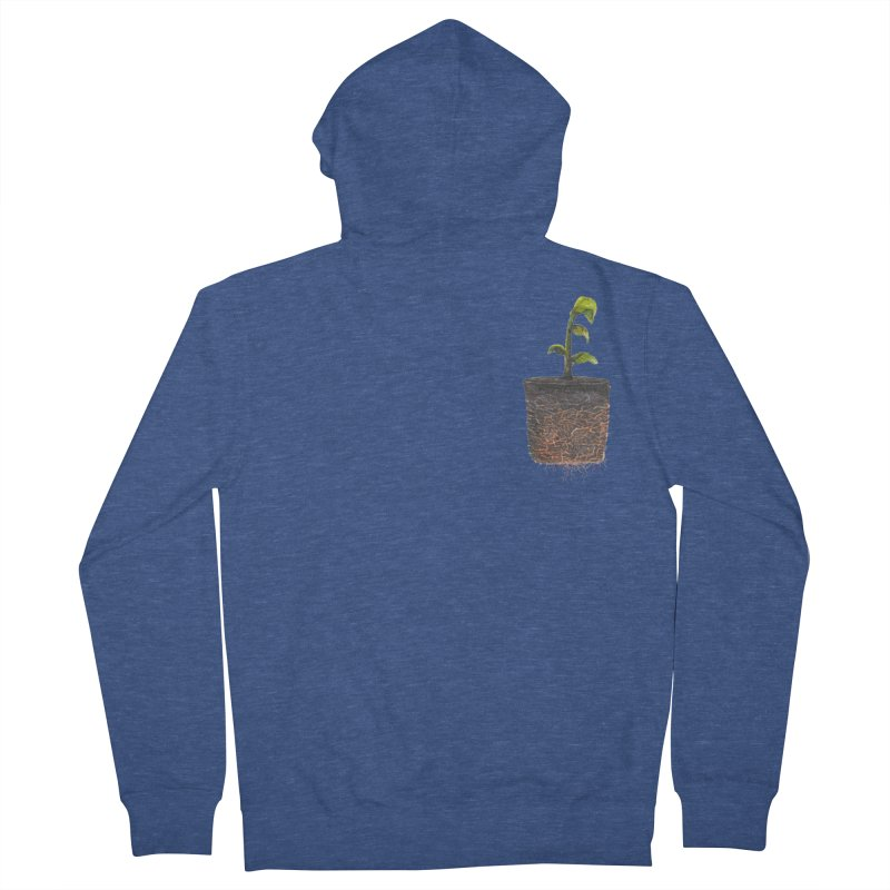 pocket plant Men's French Terry Zip-Up Hoody by ellagershon's Artist Shop