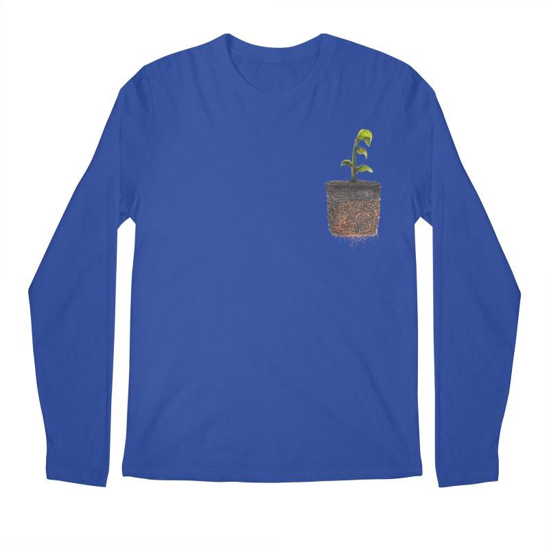 pocket plant Men's Regular Longsleeve T-Shirt by ellagershon's Artist Shop