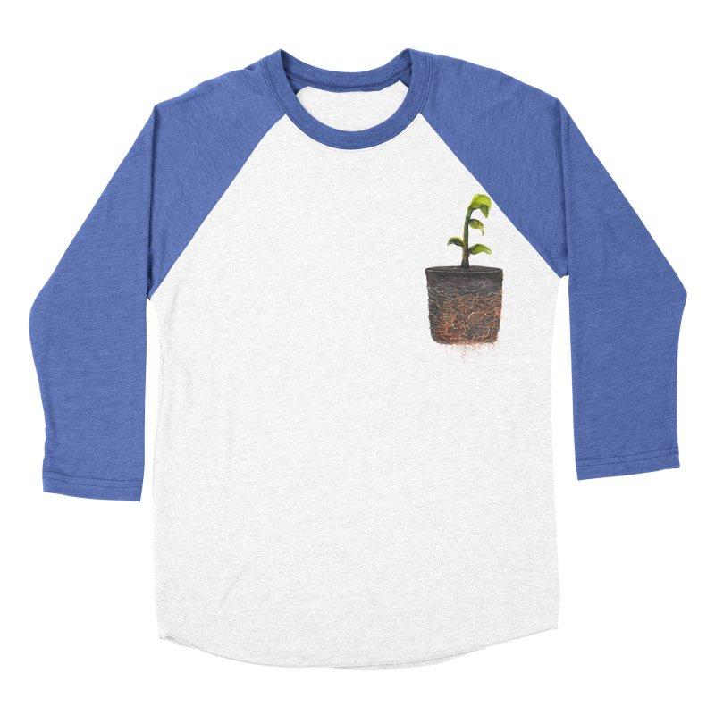 pocket plant Men's Baseball Triblend T-Shirt by ellagershon's Artist Shop