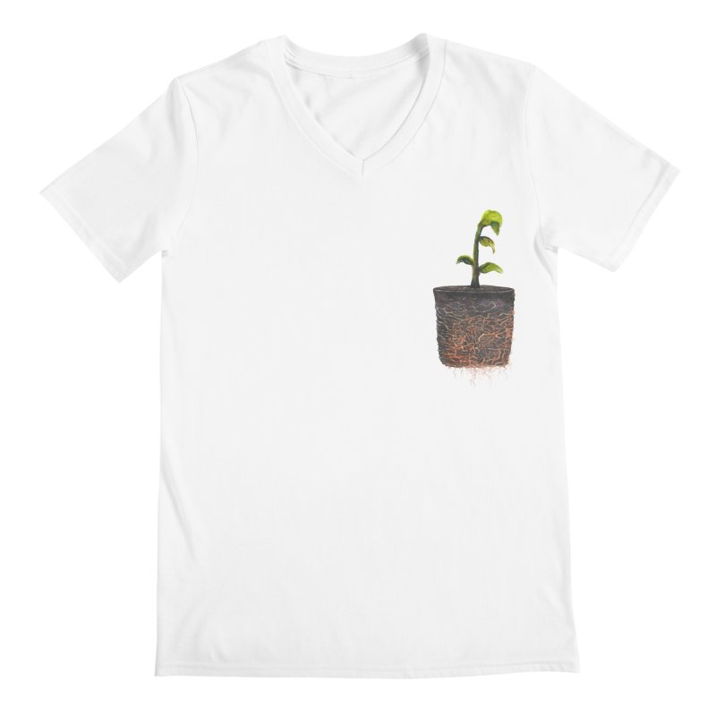 pocket plant Men's Regular V-Neck by ellagershon's Artist Shop