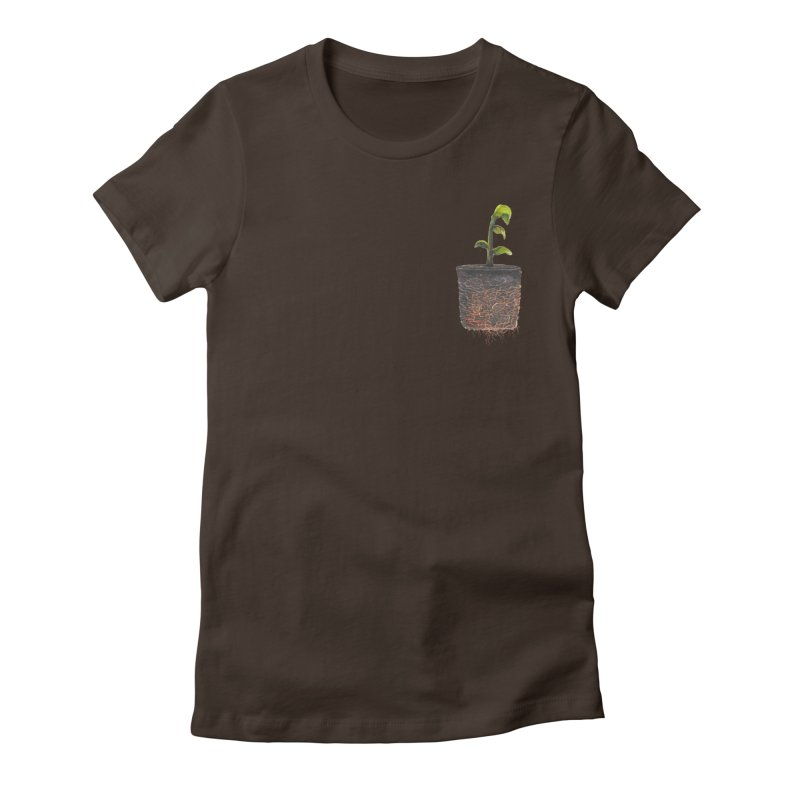 pocket plant Women's Fitted T-Shirt by ellagershon's Artist Shop