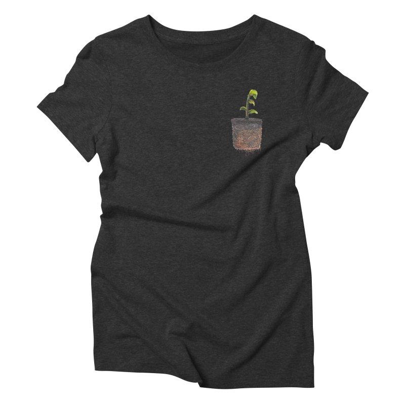 pocket plant Women's Triblend T-Shirt by ellagershon's Artist Shop