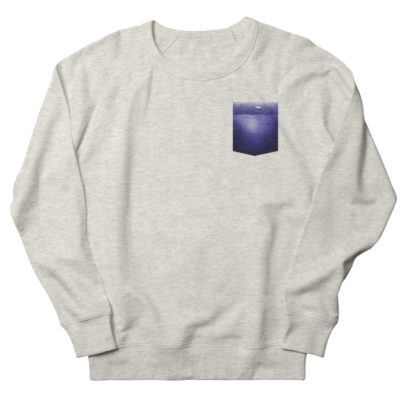 fishing in the pocket Women's French Terry Sweatshirt by ellagershon's Artist Shop
